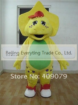 NEW 2014 Adult cartoon character lovely barney Mascot Costume Halloween party costumes adult size(China (Mainland))