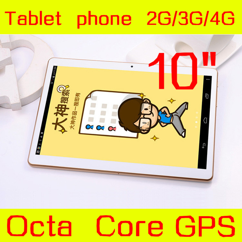 "10"" tablet IPS Screen 1280*800 Octa Core 3G 4G Phone Call 4GB/128GB Dual SIM 5.0MP Android 5.1 GPS Tablet PC Exempt postage(China (Mainland))"