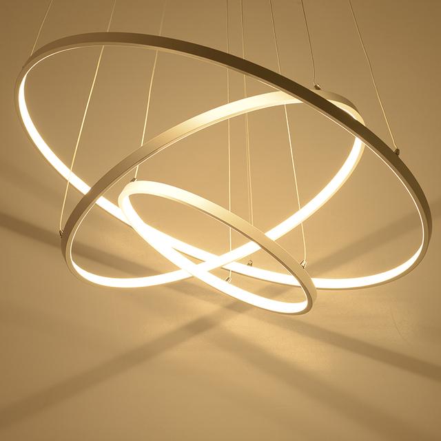 Modern led chandelier acrylic lights lamp for dinning room living ...