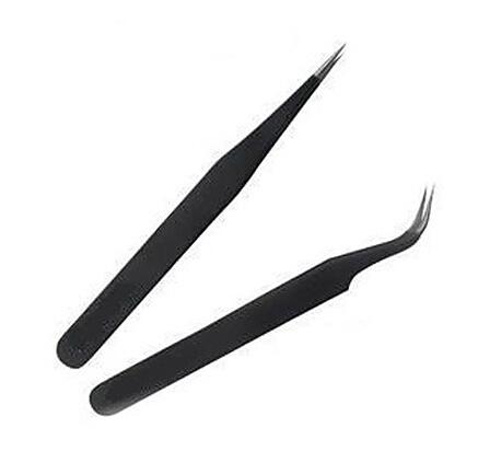 Black Metal Tweezers Nail Art Tool - VIPexpress store