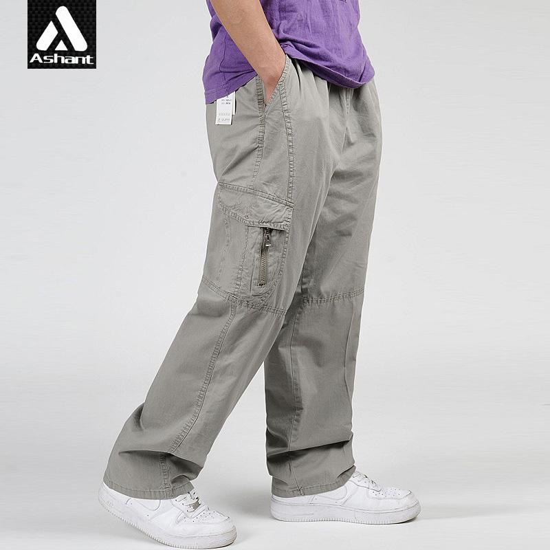 Los hombres Más El Tamaño 4XL 5XL 6XL Pantalones Cargo Holgados Overol Pantalones Al Aire Libre Verde Del Ejército Hombre Nueva Llegada(China (Mainland))