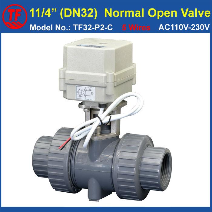 Фотография TF32-P2-C PVC DN32 Normal Open Valve 2 Way BSP/NPT 11/4