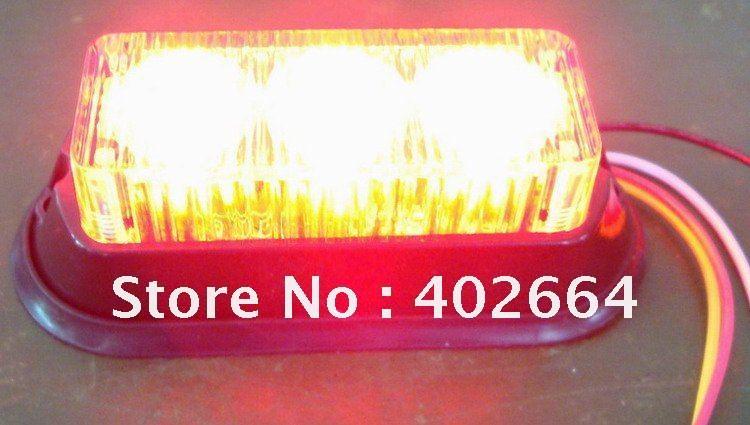 LED Emergency Warning Light SL623+Gen-3 1W LED+Being synchronized+11 patterns+12V DC+Waterproof(China (Mainland))
