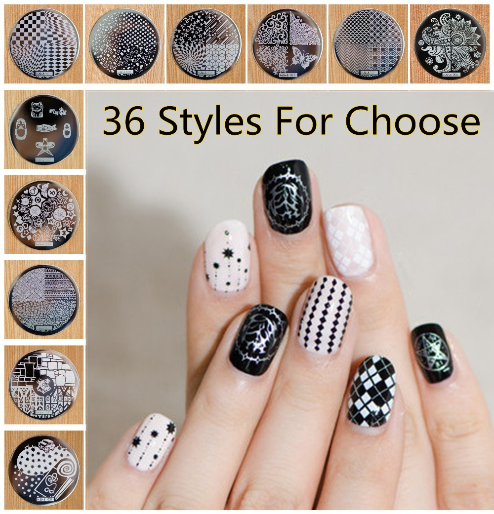 1 Piece Hive Flower Pattern etc hehe 1-36 Series Nail Art Image Plate Stamper Stamping, 36 Designs Manicure Template For Choose(China (Mainland))