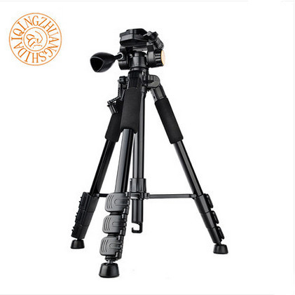 DiC&MiC E302 Aluminum Alloy Black Color Tripod Monopod For Professional DSLR Camera / Panoramic Ball Head / Better than Q666 DHL(China (Mainland))