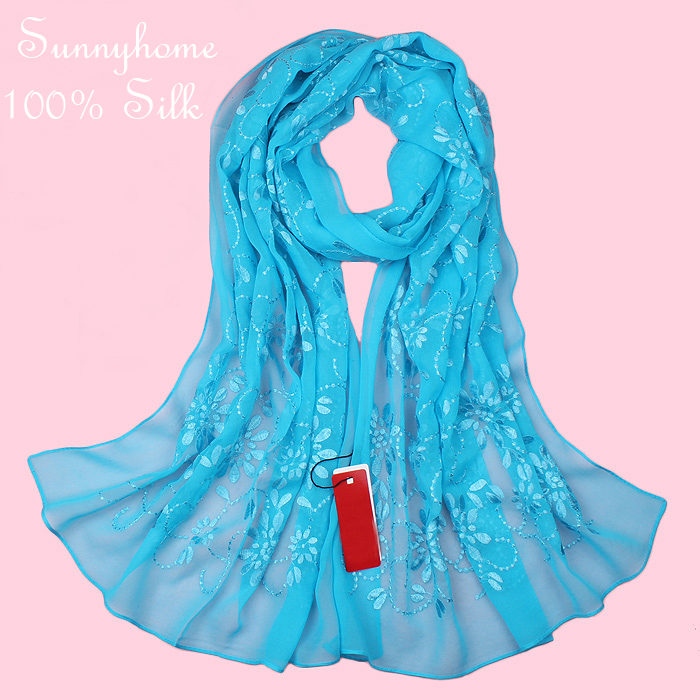 Muslim hijab Wire silk scarf women quality exquisite embroidered female scarfs multi-purpose long design silk pashmina headband(China (Mainland))