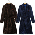 Free shipping 2015 New Terry bathrobe Men Flannel Bath Robe Winter Autumn Casual Navy Blue Chinese