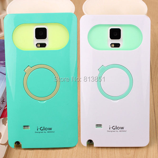Galaxy Note 4 Glossy iGlow candy color luminous hybrid hard case back cover Samsung IV N9100  -  Shenzhen HZZ Trading Co., Ltd. store