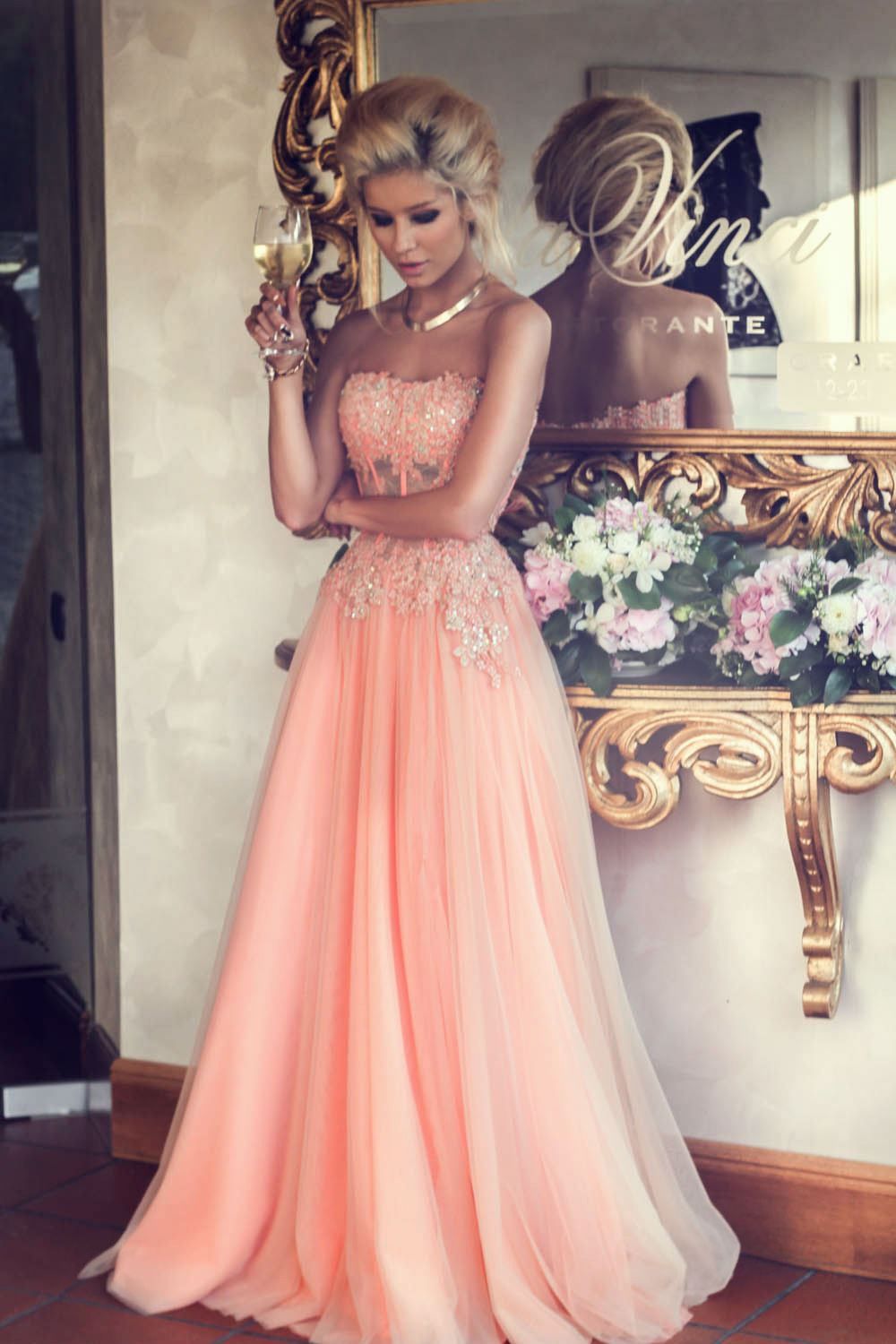 Rose Colored Prom Dresses