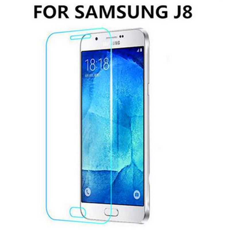 50Pcs 9H Tempered Glass Screen Protector Film for Samsung Galaxy J8 + Alcohol Cloth + Dust Absorber(China (Mainland))