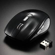 2.4G Wireless Mouse 5Buttons 1200 DPI Cordless Gaming Optical Mice+Mini Receiver For Computer Laptop Notebook Black(China (Mainland))