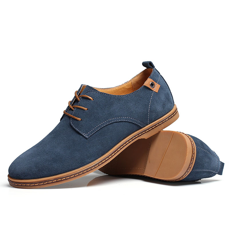 men sneakers Suede genuine leather oxfords california casual shoes men's flats shoes 38-46 Size European style Free shipping(China (Mainland))