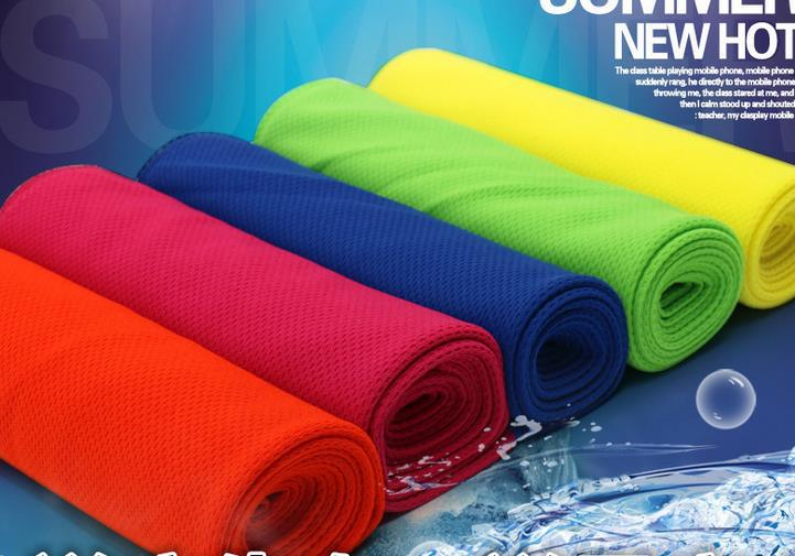 Cooling Performance Towels sports outdoor ice cold scarf scarf Pad neck tie wristband headband summer beach party supplies gift(China (Mainland))