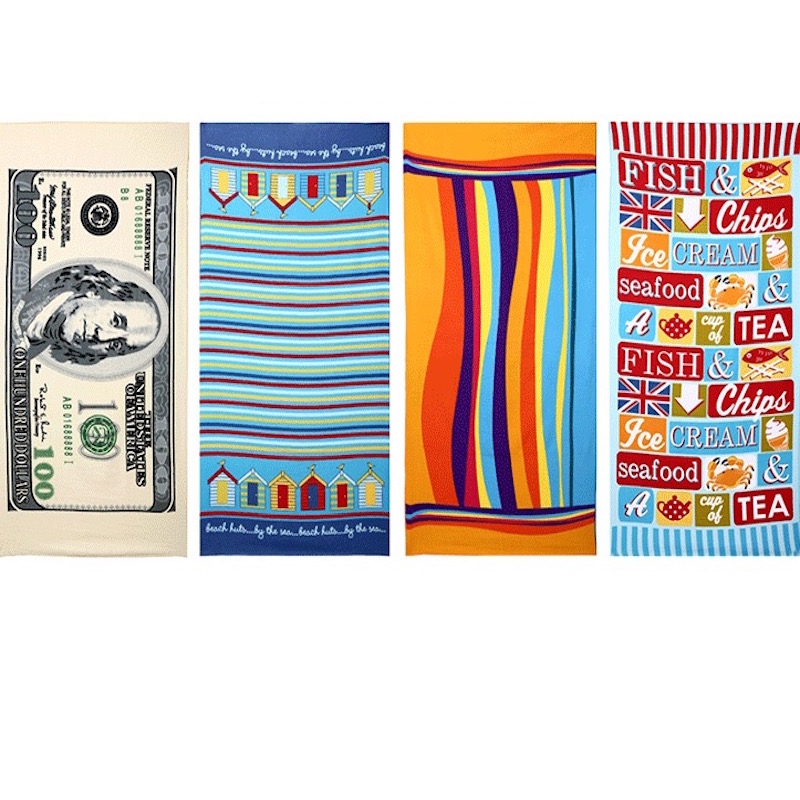 Hot Sale 70*140cm Absorbent Microfiber Bath Print colorful Beach Towel Drying Washcloth Swimwear Shower Free Shipping(China (Mainland))