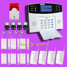 DHL Free Shipping!Flash Siren 108 Wired/wireless Defense Zones Gsm Sms Home Alarm System Door Sensor Kit