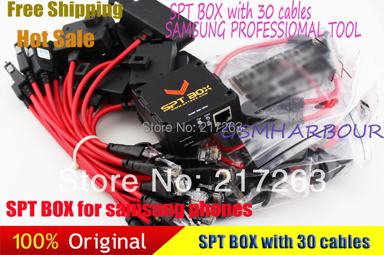 New SPT Box 2 (SPTBOX) + Latest 30 Cables - Software Repair Flash & Unlock Tool for Samsung Mobile Phones(China (Mainland))