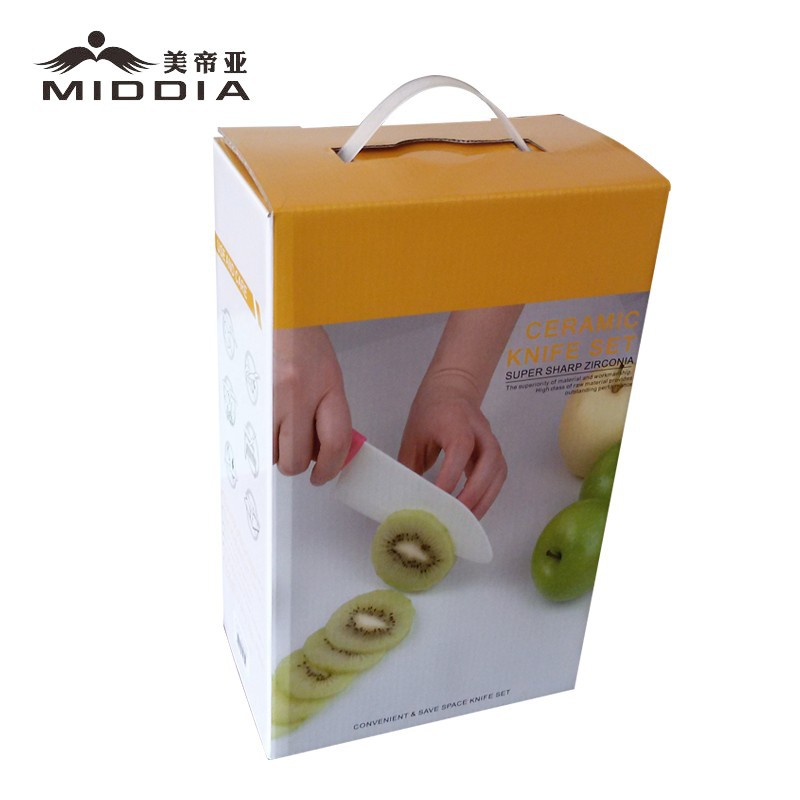 Buy Middia 5pcs ceramic knife set with block ceramic paring knife cheap
