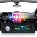 Car Radio 1 Din Stereo Audio MP3 Player BluetoothV2 0 12V In dash Single FM Receiver