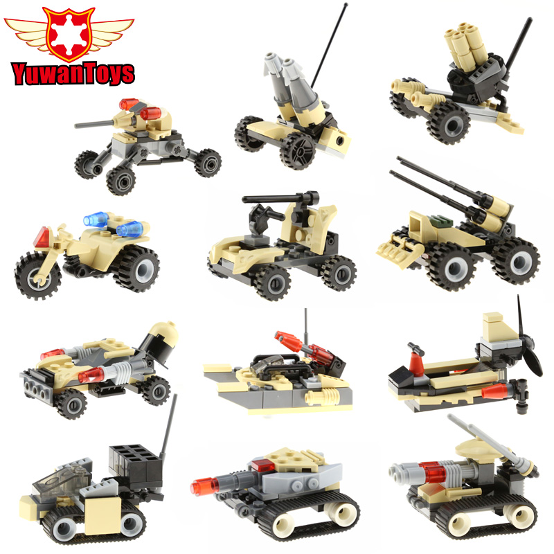 Military Counter Strike Assault Special Force Vehicle Building Blocks 12in1 Mortar Truck Army Minifigures Compatible Legoelieds(China (Mainland))