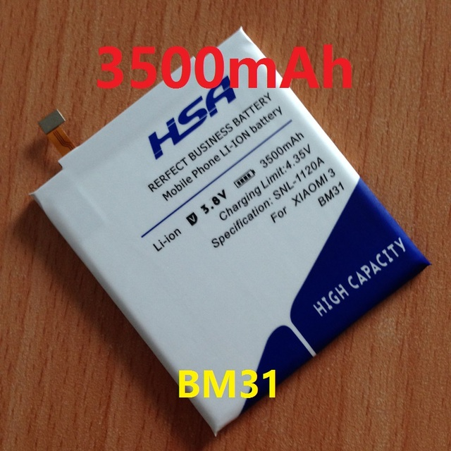 New Arrivals 3500mAh BM31 Phone Battery for xiaomi mi3 m3 / xiao mi 3 / xiaomi 3