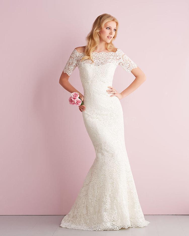 Vestido casamento половина рукава с курткой кружева свадебное платье русалка vestido noiva винтаж