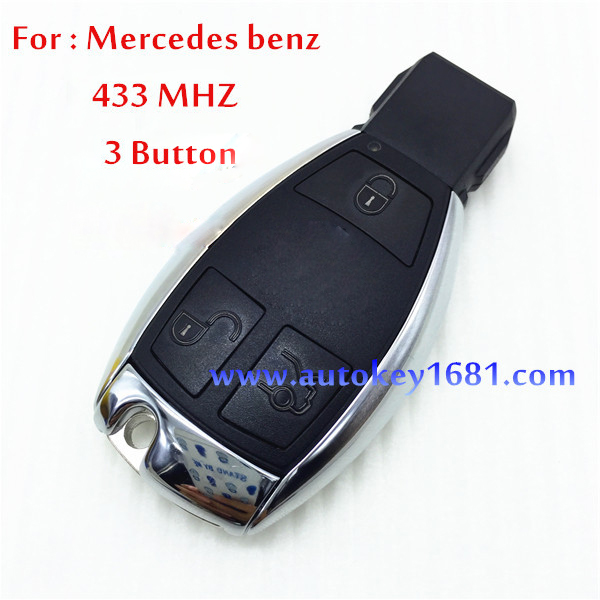 Car Key for MERCEDES BENZ electric key 3 button smart card remote control free shipping(China (Mainland))