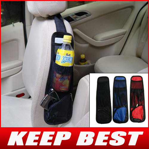Free Shipping Car Multi-function Universal Side Pocket / Seat Pocket Storage Organizer Bag
