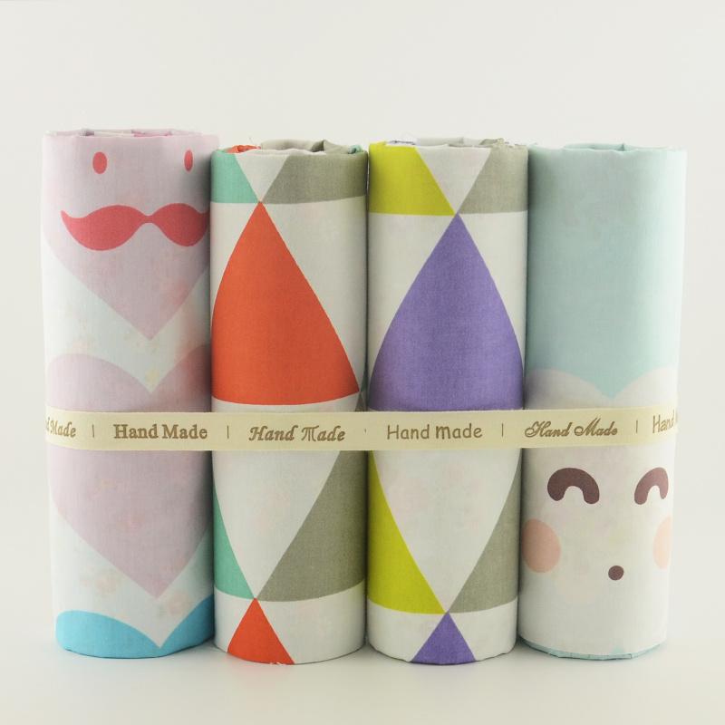 4PCS/lot Novelty Printed Cotton Fabric Patchwork Fabrics Teramila Cloth Sewing Tissus Cutting Pieces Telas Tecido Quilting Meter(China (Mainland))