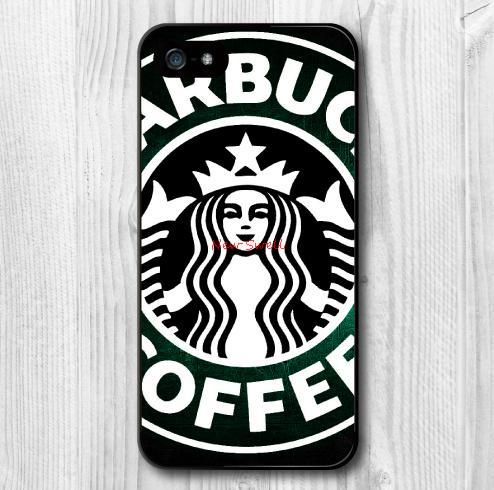 Case iPhone 6 5 5S 5C 4 4S Plus Starbucks Cafe Pattern Print Protective Hard Cover Cases
