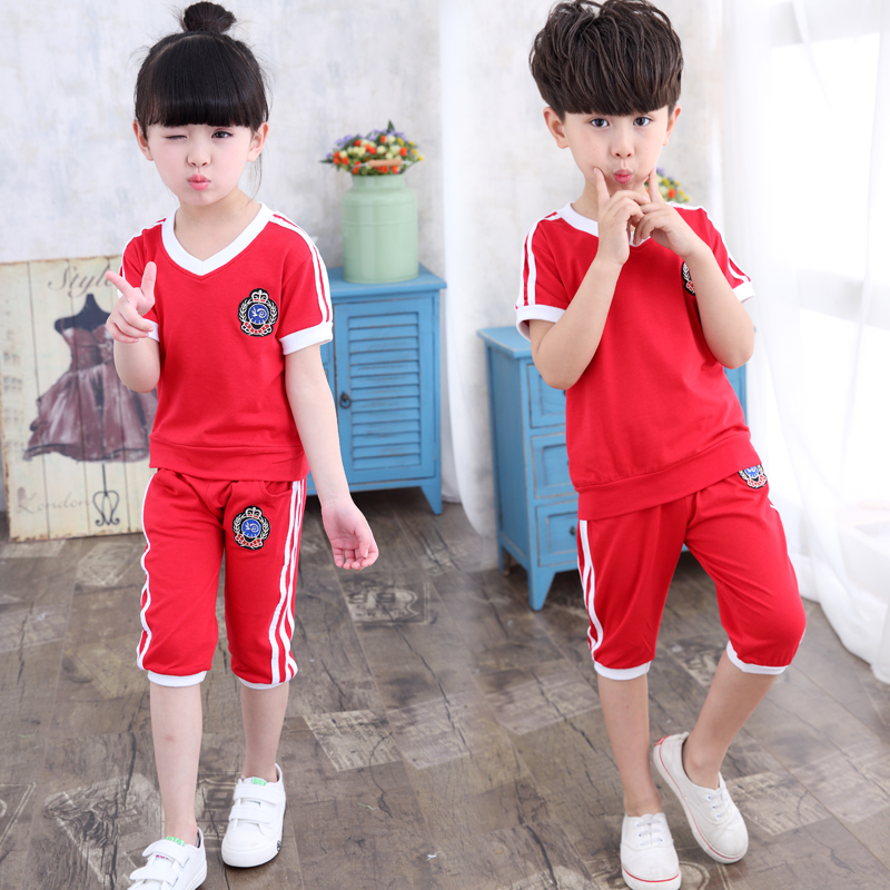 2016 Brand New Summer Tracksuit Children Clothing Sets Baby Boys Kids Clothes Sets T-shirt +pants 2pcs Sports Suits Ropa Mujer