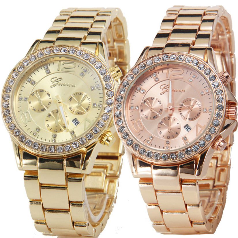 Perfect Gift Geneva Date Quartz Wrist Watch Female Luxury Crystal Lady Ladies Watch July03P20(China (Mainland))
