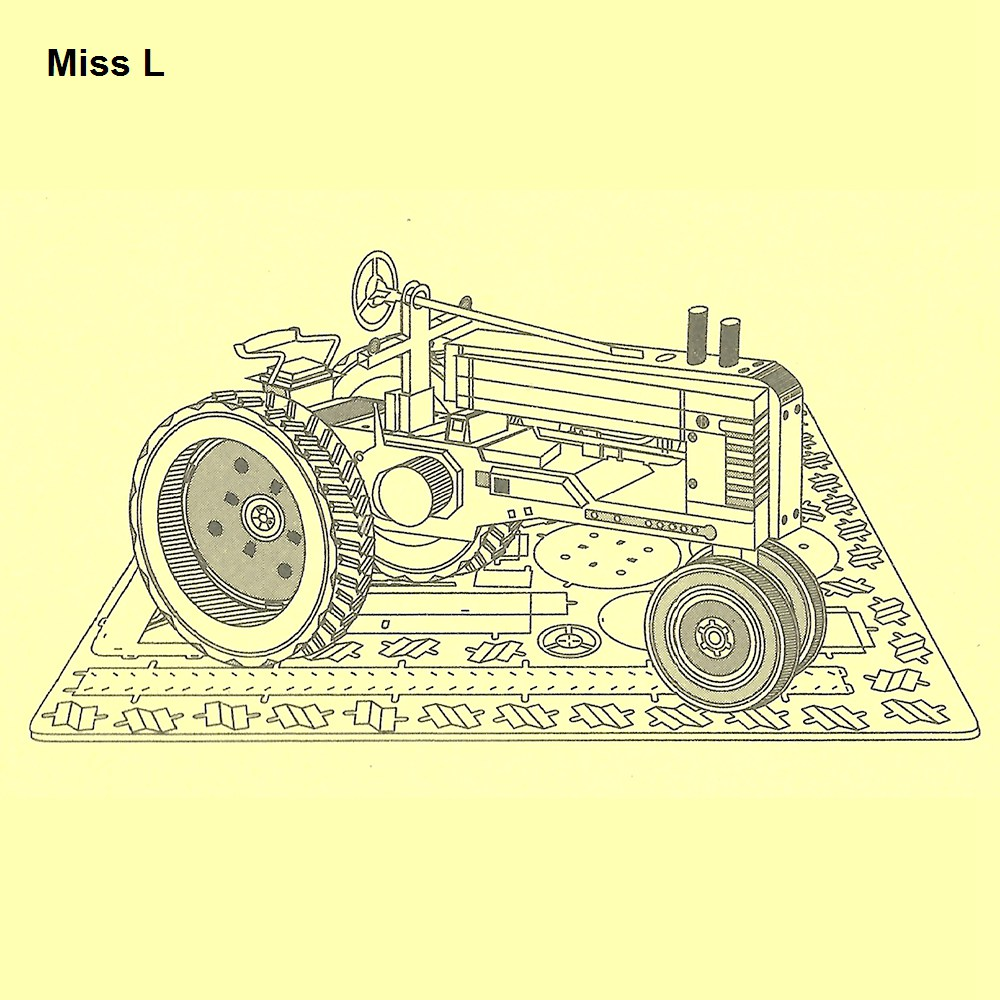 Funny Toys Laser Cutting 3D Jigsaw DIY Metal Works Model Puzzle Farm Tractor Gadget(China (Mainland))