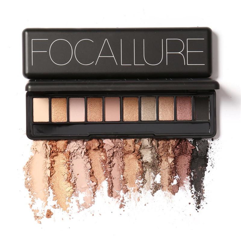 Focallure Eye Shadow Makeup Shimmer Matte Eyeshadow Earth Color Eyeshadow Palette Cosmetic Makeup Nude Eye 10 colors M02484