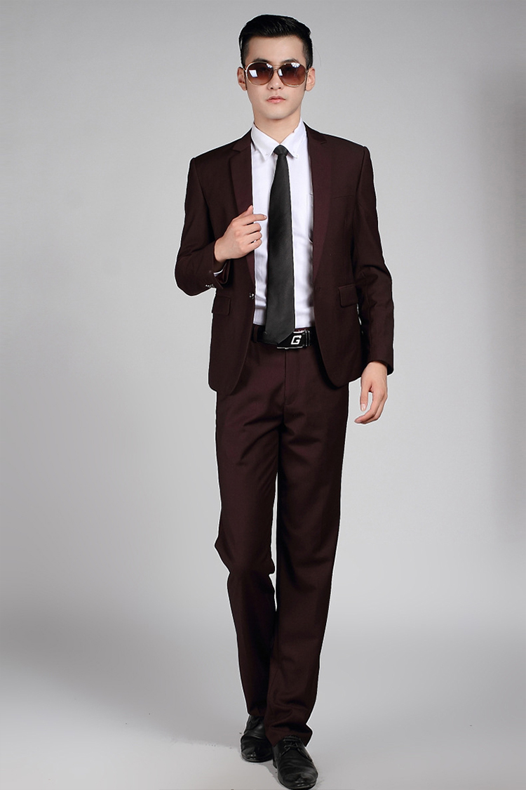 88-Free Shipping New 2015 man suit classic Fashion grooms man suits! Men's Blazer Business Slim Clothing Suit And Pants