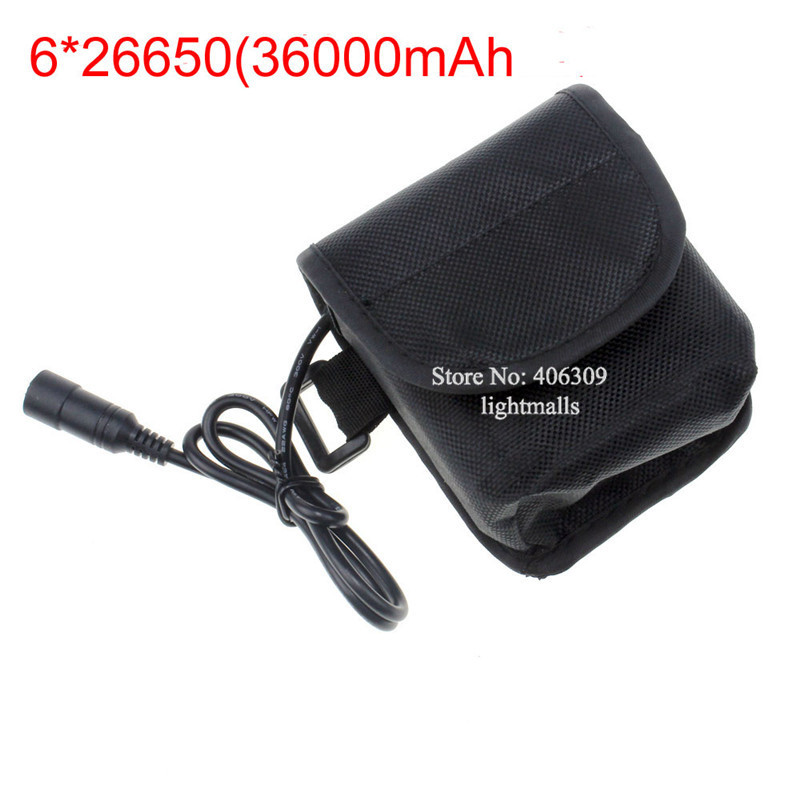 8.4V 36000mAh 6* 26650 Rechargeable Battery Pack Bicycle Light Accessories LED Lights - Ourdoor-Lights store