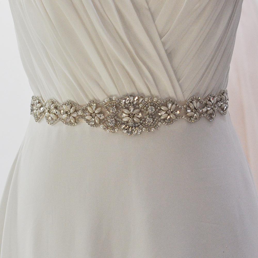 TOPQUEEN S161 Free shipping Stock 100% pure handmade Rhinestone wedding sash and bridal belts(China (Mainland))