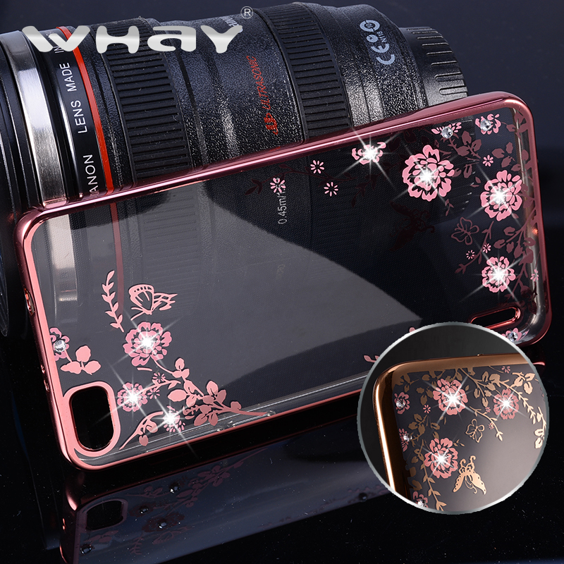 Butterfly Luxury Bling Diamond Clear Back Case For Huawei honor 6 Plating Gilded Soft TPU Silicone Case Cover For Honor 6 Case(China (Mainland))