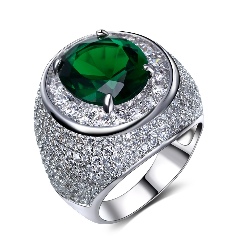 Mansaku 2016 rings for women New deisign Brass Wedding ring Made Green color aaa Quality Cubic Zirconia Pave Setting Lead Free(China (Mainland))