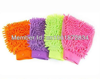 New arrival ! Microfiber Chenille car cleaning cloth, Car Wash Glove, car cleaning glove Free Shipping