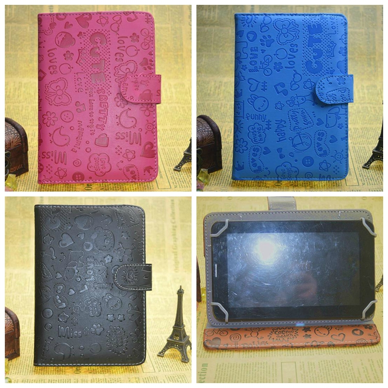 Universal 7 inch Android Tablet PU Leather Flip Case Stand Cover cube talk 7x Samsung Galaxy Tab3 P3200 - E-Fly Electronic co., LTD store