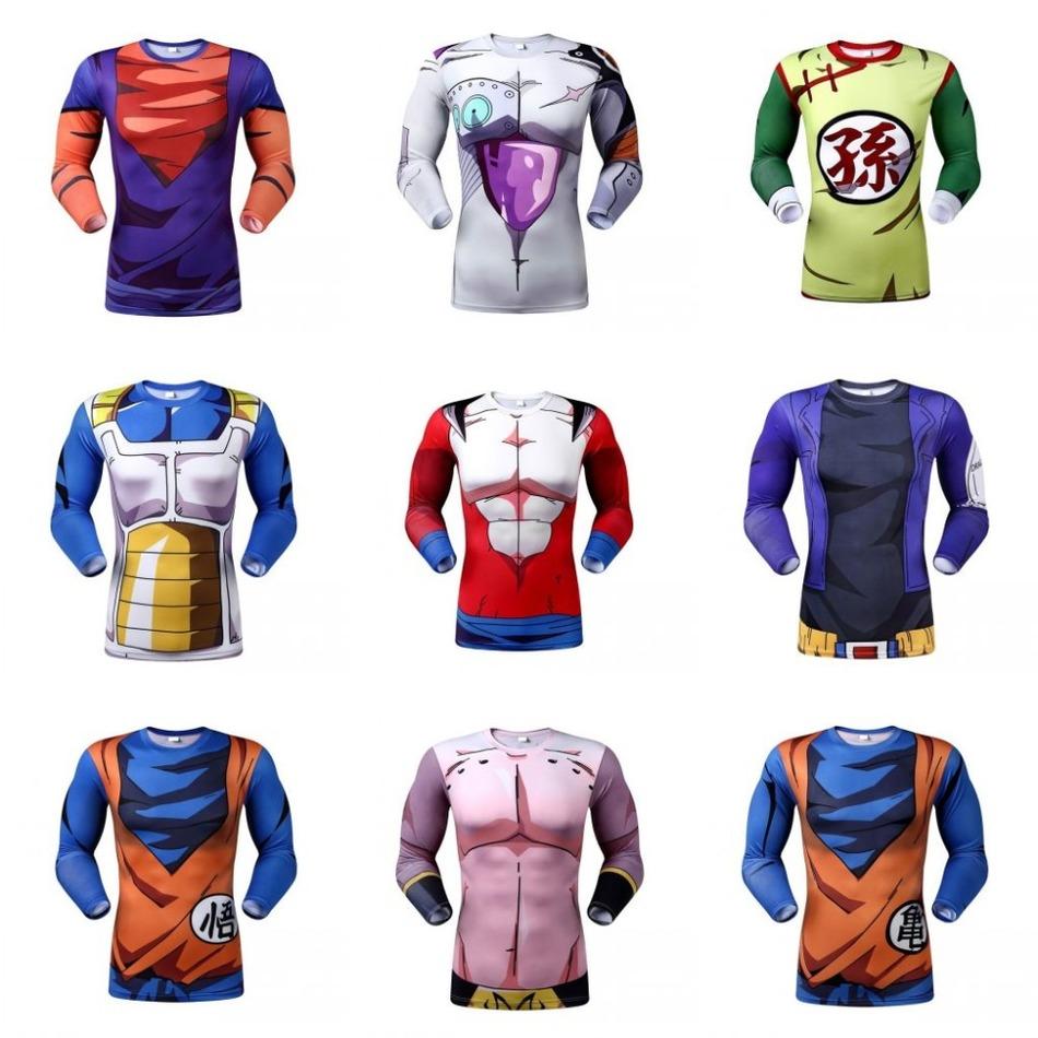 Newest Cute Kid Goku New 3D Long t shirts Women Men Casual tees Anime Dragon Ball Z Super Saiyan t shirts Harajuku tee shirts(China (Mainland))