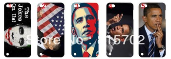 Obama Hard Cases Covers for Touch 5 5th free shipping 10pcs/lot