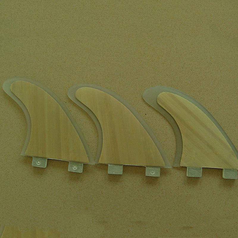 Super Strong Honeycomb Fiberglass FCS Fins with bamboo veneer/ sup FIN / surfboard FIN/ G5(China (Mainland))