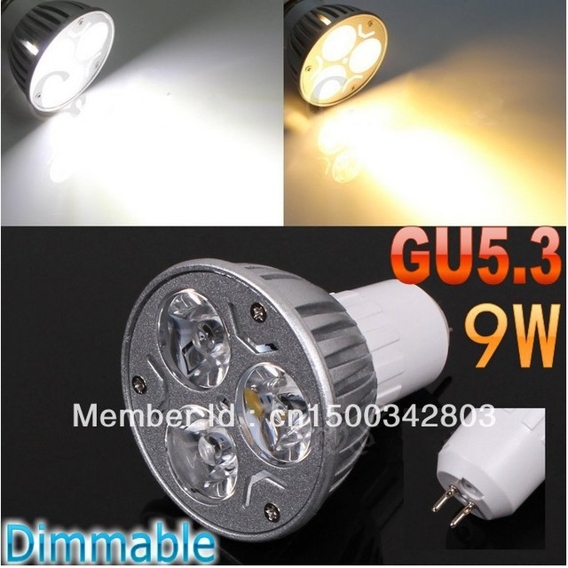 FREE Shipping 2pcs/lotHigh power CREE GU5.3 3x3W 9W 110V-240V Dimmable Light lamp Bulb LED Downlight Bulb spotlight