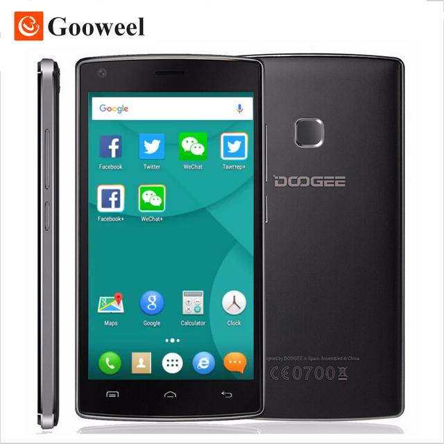 Original Doogee X5 MAX PRO 5.0 дюймов HD Смартфон MTK6737 Quad Core 2 ГБ RAM + 16 ГБ ROM Сотовый Телефон 4000 мАч Мобильного Телефона Отпечатков Пальцев