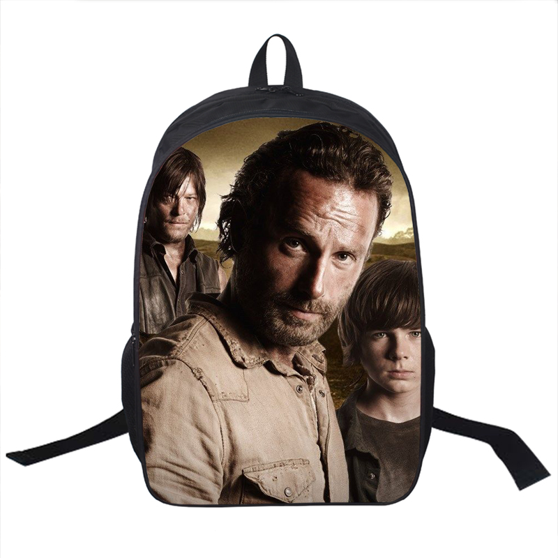 Tv Show The Walking Dead Backpack Young Men Women Daily Backpack Daryl Dixon Book Bag Rick School Bags For Teenagers Backpacks