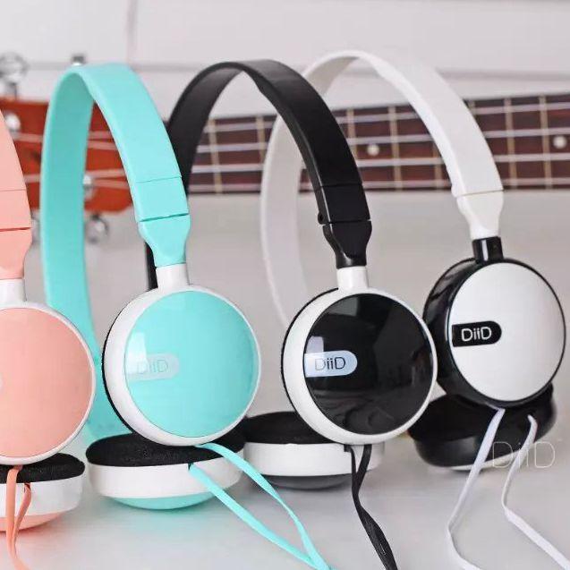 DIID cheap headset earphone with 3.5mm audio plug microphone headphone for phone pc xiaomi(China (Mainland))