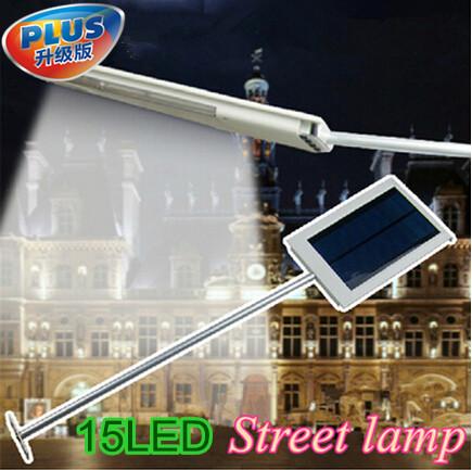 Solar Powered Panel15 LED Lighting Sensor Street Light Outdoor Path Wall Emergency Security Spot Light(China (Mainland))