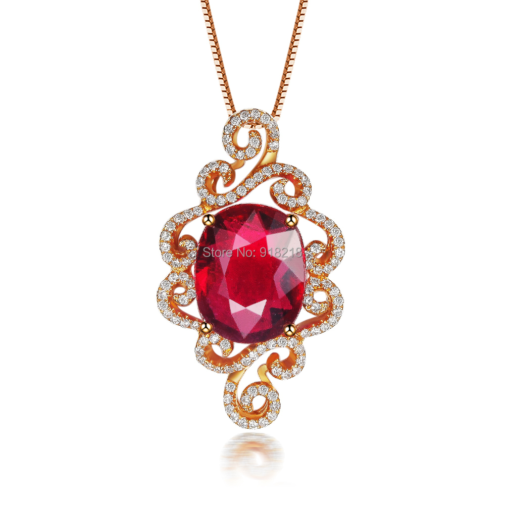 natural red tourmaline jewelry 18k rose gold gemstone fine