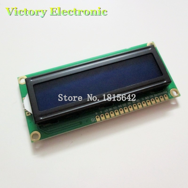 3.3V LCD1602 LCD monitor 1602 Blue Screen White Code Blacklight 16x2 Character LCD Display Module HD44780 1602A(China (Mainland))
